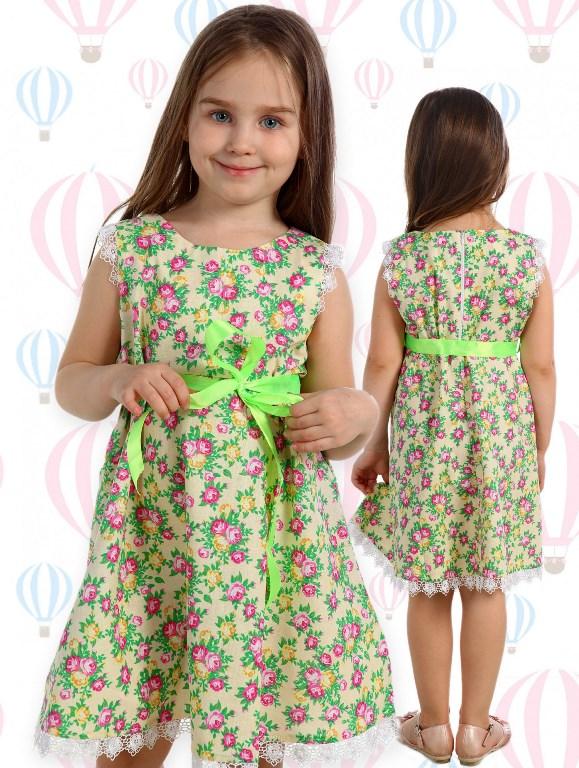 детское платье с кружевами